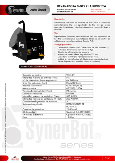 D-GPS 21A BLIND TCW