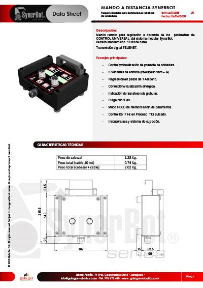 FT-66012085V0 MANDO DISTANCIA SYNERBOT