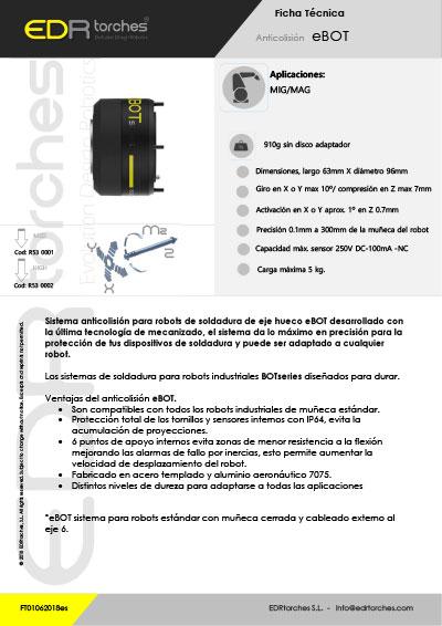 Ficha técnica ANTICOLISIÓN EBOT